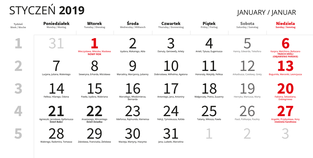 Chromapl Kalendaria 2019